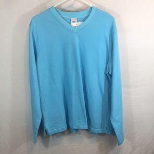 Icantoo Large Aqua Blue Sweatshirt NWT